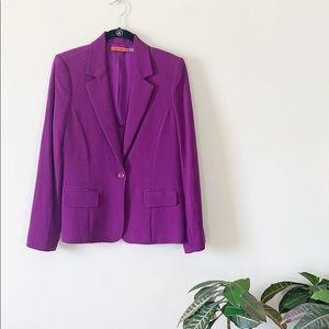 Alice + Olivia Elyse Purple One Button Blazer Sz M